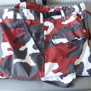 "1 Pair Red Camouflage Pants Size Medium Waist 31"""